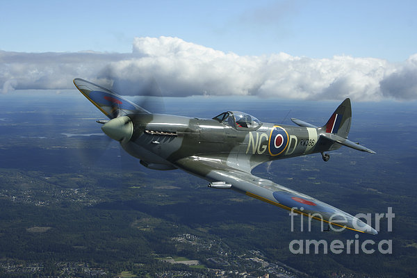 Supermarine Spitfire Mk.xvi Fighter Print by Daniel Karlsson