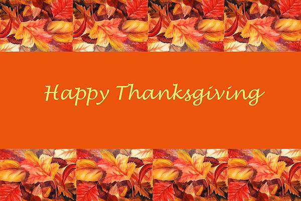 Thanksgiving Card Print by Irina Sztukowski