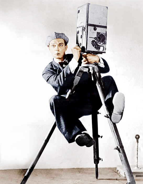 The Cameraman, Buster Keaton, 1928 Print by Everett