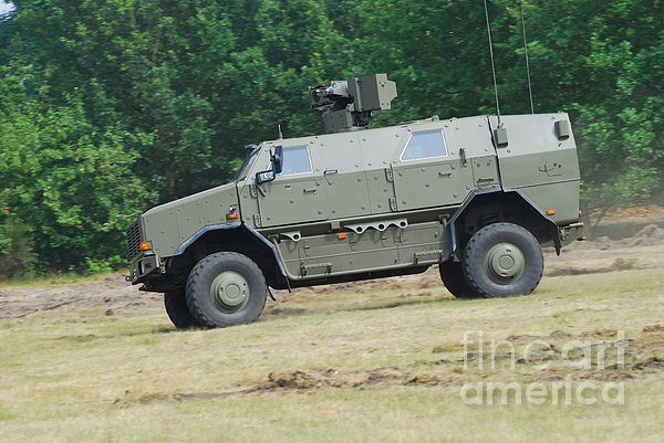 The Dingo 2 In Use By The Belgian Army Print by Luc De Jaeger