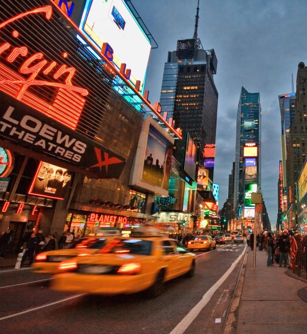 Times Square Print by June Marie Sobrito
