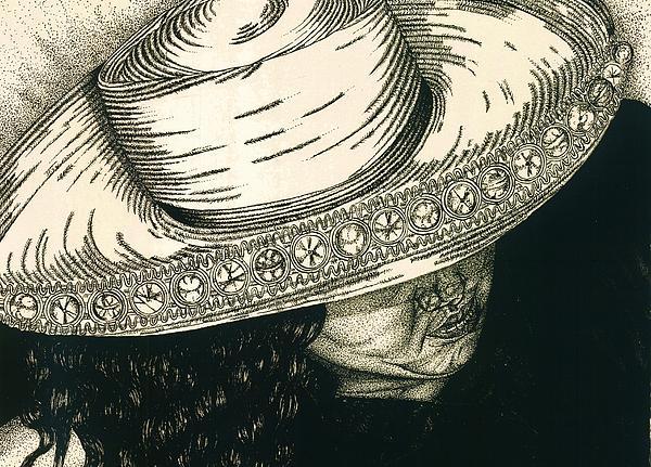 White Hat Print by Jac  Jac