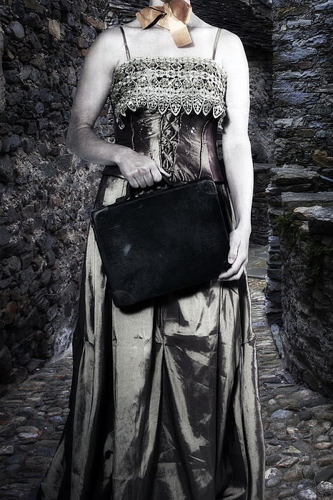 Woman In Alley Print by Joana Kruse