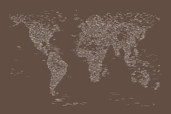 Michael Tompsett - World Map of Cities