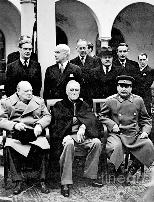 Yalta Conference, 1945 Print by Granger