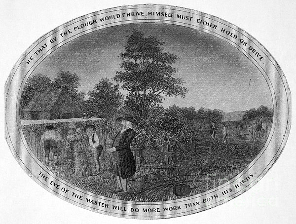 Poor Richard Illustrated Print by Granger