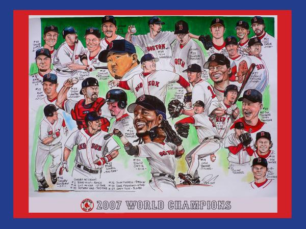 2007 World Series Champions Print by Dave Olsen