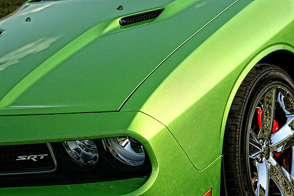 2011 Dodge Challenger Srt8 - Green With Envy Print by Gordon Dean II