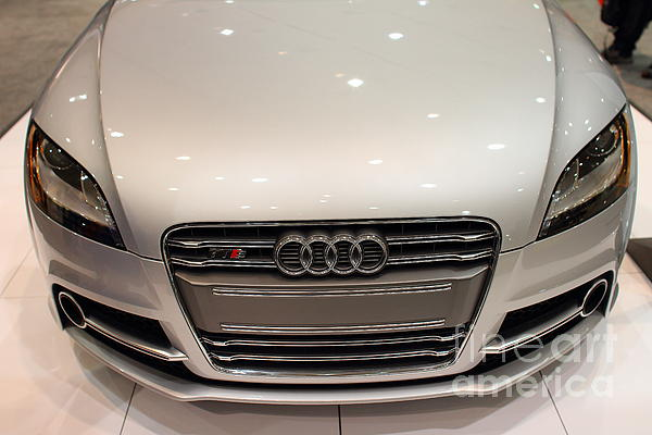 2012 Audi Tts . Silver . 7d9552 Print by Wingsdomain Art and Photography