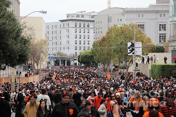 2012 San Francisco Giants World Series Champions Parade Crowd - Dpp0001 Print by Wingsdomain Art and Photography