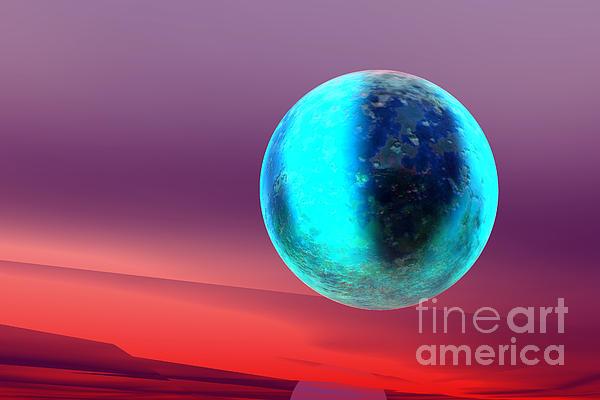 Planet Print by Odon Czintos