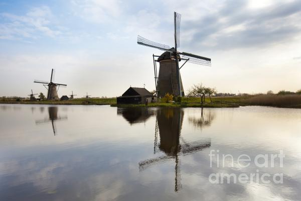 Mills In Netherlands Print by Andre Goncalves