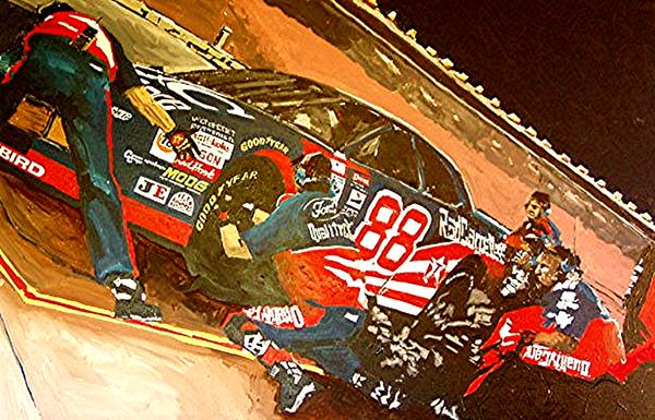 Automobile Racing Painting