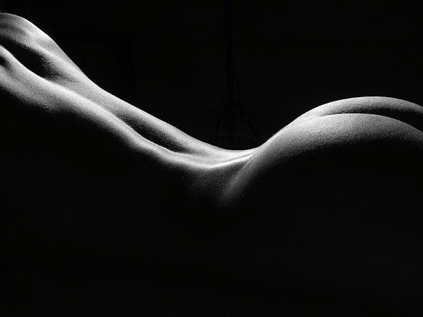 Black And White Nude Print by David Quinn