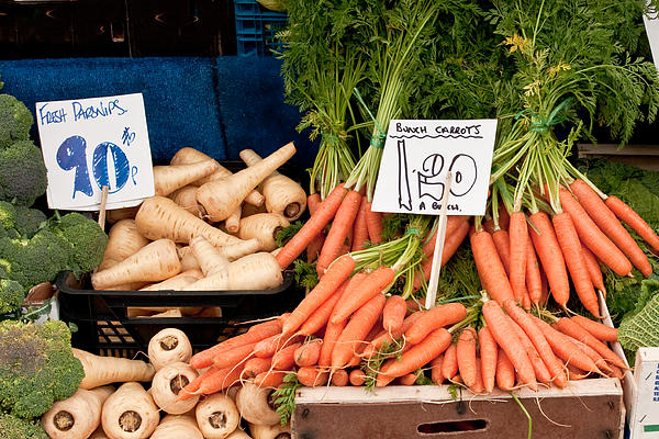 Carrots Print by Tom Gowanlock