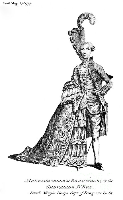 Charles Deon De Beaumont Print by Granger