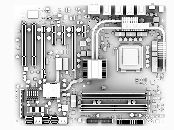 Computer Motherboard, Artwork Print by Pasieka