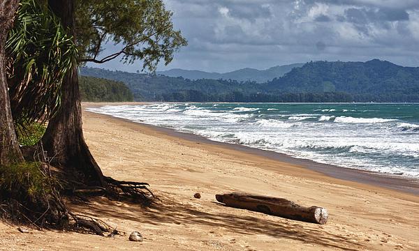 Deserted Beach In Phuket In Thailand Print by Zoe Ferrie