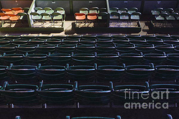 Fort Worth Stockyards Coliseum Seating Print by Jeremy Woodhouse