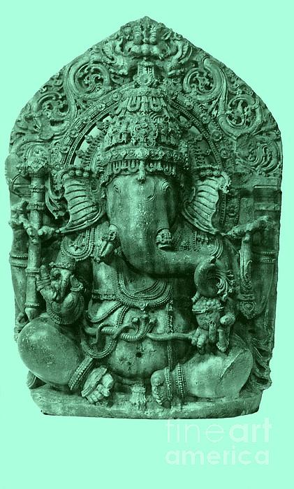 Ganesha, Hindu God Print by Photo Researchers