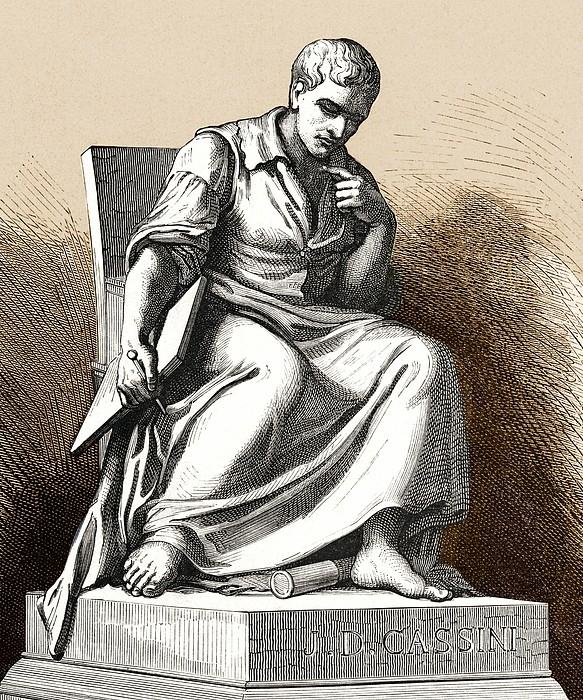 Giovanni Cassini, Italian Astronomer Print by Sheila Terry