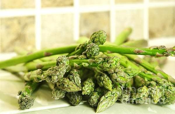 Green Asparagus Print by Blink Images