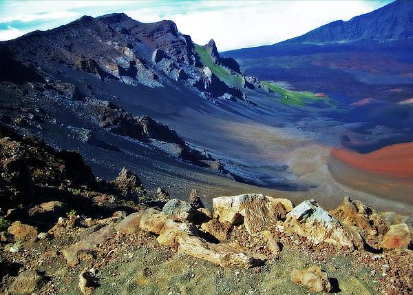 Haleakala Crater In Maui Hawaii Print by Sheila Kay McIntyre