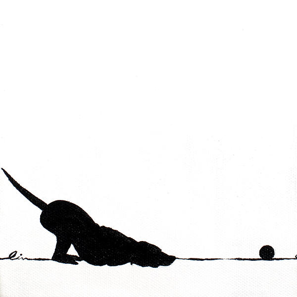 Little Dogs Doing Tricks On Little Canvas Print by Cindy D Chinn