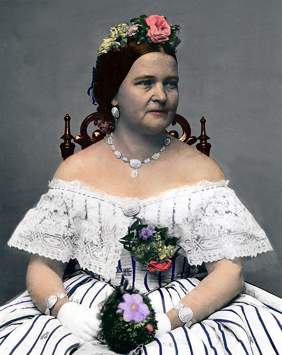Mary Todd Lincoln 1818-1882, Wife Print by Everett