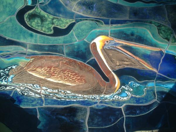 mural at the aquarium of the pacific detail painting by theodora the aquarium 600x450