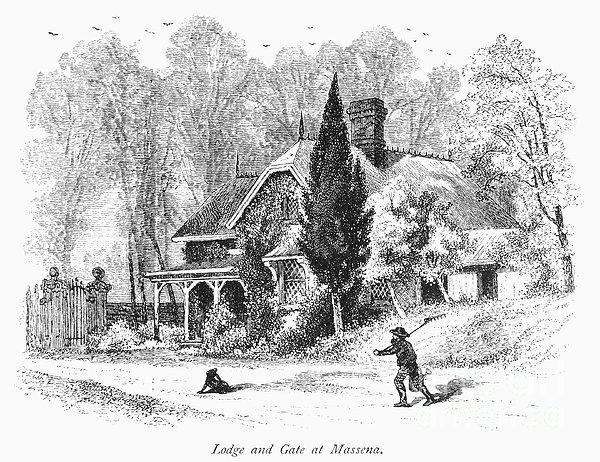 New York State: House Print by Granger