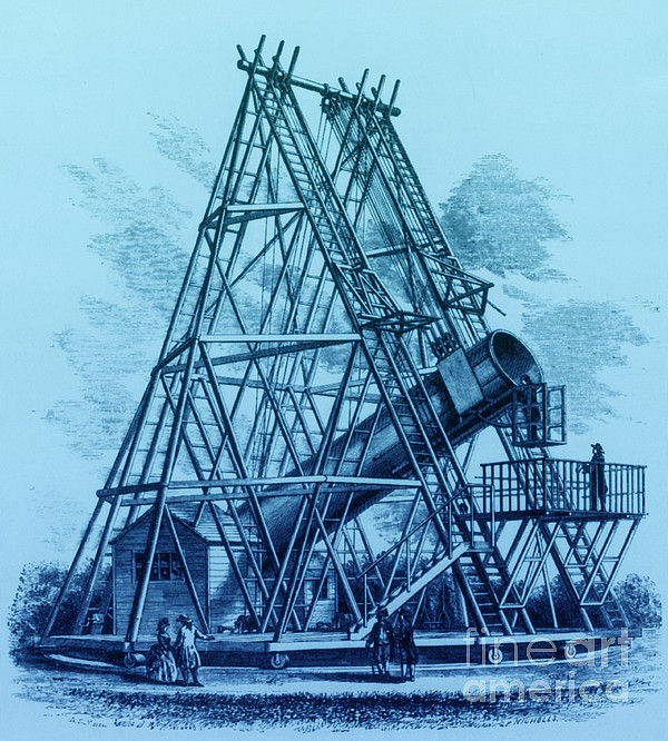 Reflecting Telescope, 1789 Print by Science Source