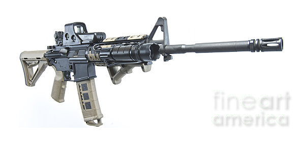 Rock River Arms Ar-15 Rifle Equipped Print by Terry Moore
