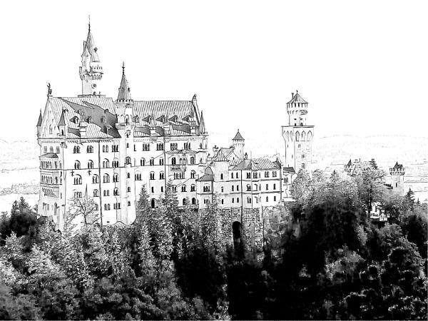 Schloss Neuschwanstein Germany Print by Joseph Hendrix