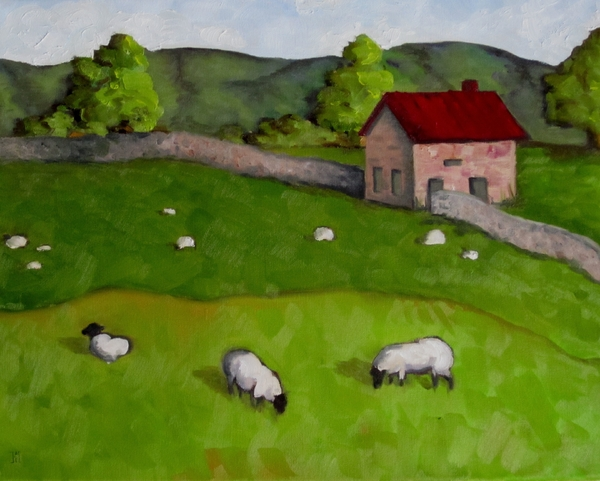 3 Sheep On The Farm Print by Amy Higgins