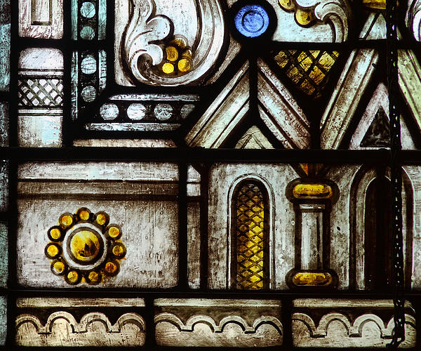 stained Glass Window Print by Rudy Umans
