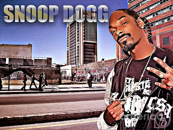 Street Phenomenon Snoop Dogg Print by The DigArtisT