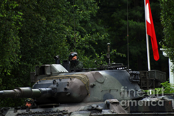 Tank Commander Of A Leopard 1a5 Mbt Print by Luc De Jaeger