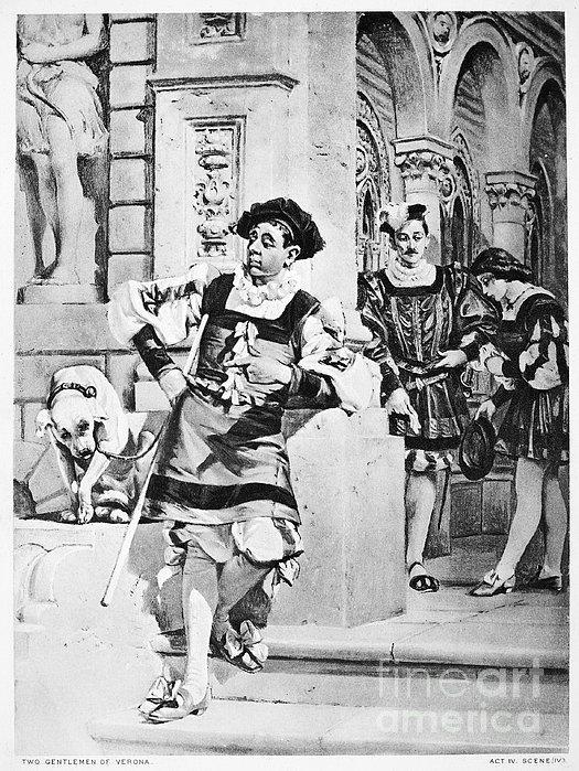 Two Gentlemen Of Verona Print by Granger
