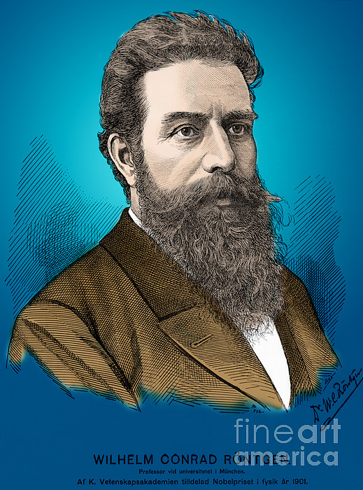 Wilhelm Roentgen, German Physicist Print by Science Source
