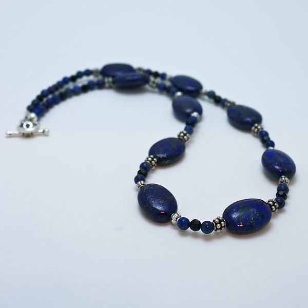 3553 Lapis Lazuli Necklace And Earrings Set Print by Teresa Mucha