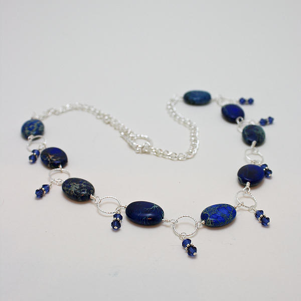3589 Blue Sea Sediment Jasper Necklace Print by Teresa Mucha