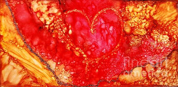 3rd Heart Print by Joyce Auteri