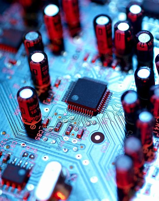Circuit Board Print by Tek Image