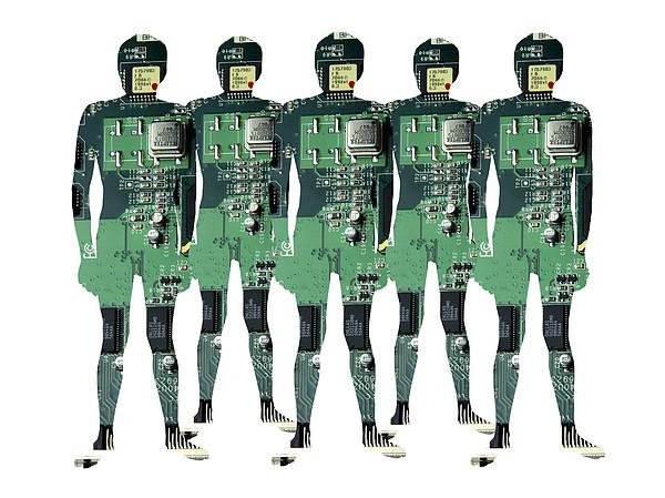 Cybernetics And Robotics Print by Victor De Schwanberg