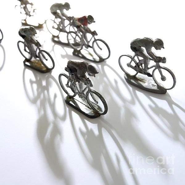 Cyclists Print by Bernard Jaubert