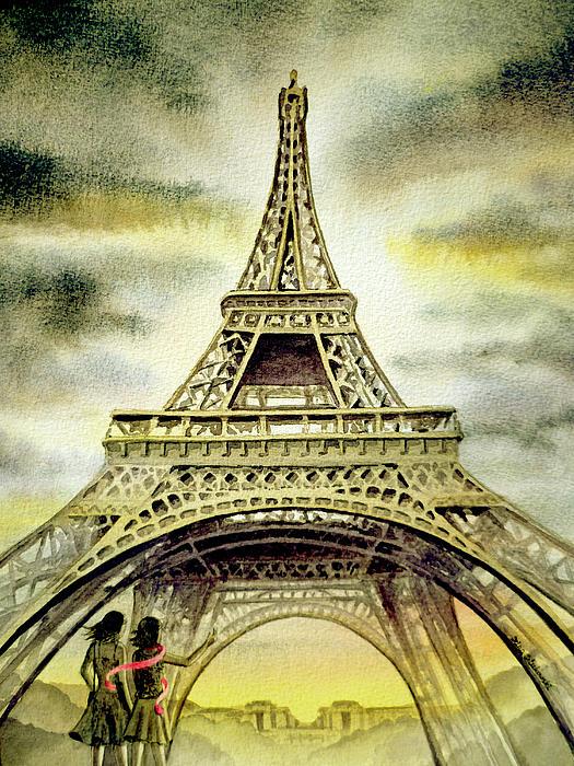 Eiffel Tower Paris Print by Irina Sztukowski