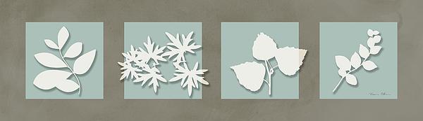4 Flowers Print by Nomi Elboim