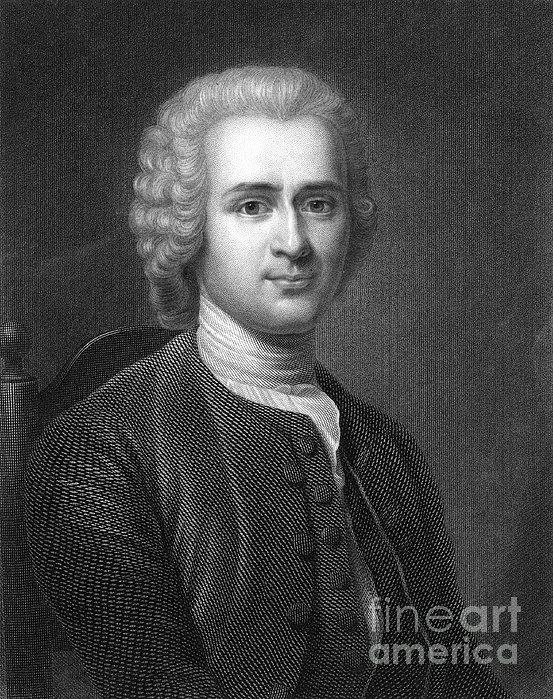 Jean Jacques Rousseau Print by Granger