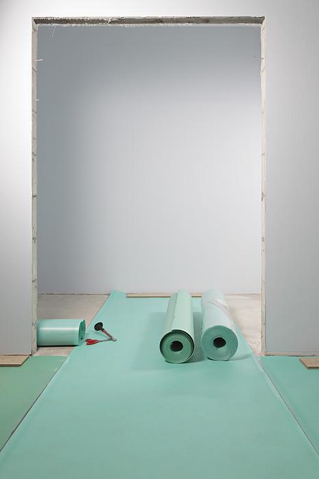 Laying A Floor. Rolls Of Underlay Or Print by Magomed Magomedagaev